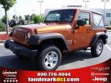2010 Mango Tango Pearl Jeep Wrangler Sport 4x4 #34167953