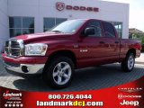 2008 Inferno Red Crystal Pearl Dodge Ram 1500 Big Horn Edition Quad Cab #34167960