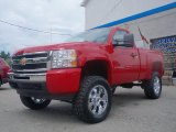 2010 Victory Red Chevrolet Silverado 1500 LS Regular Cab 4x4 #34167762