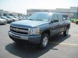 2010 Blue Granite Metallic Chevrolet Silverado 1500 LT Crew Cab 4x4 #34168315