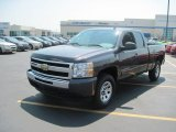 2010 Taupe Gray Metallic Chevrolet Silverado 1500 LS Extended Cab 4x4 #34168318