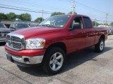 2007 Inferno Red Crystal Pearl Dodge Ram 1500 ST Quad Cab 4x4 #34168681