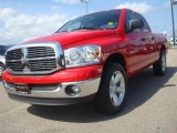2007 Flame Red Dodge Ram 1500 SLT Quad Cab #34167789