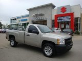 2009 Silver Birch Metallic Chevrolet Silverado 1500 Regular Cab 4x4 #34168050