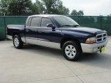 2004 Patriot Blue Pearl Dodge Dakota SLT Quad Cab #34168082