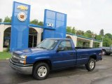 2004 Arrival Blue Metallic Chevrolet Silverado 1500 Regular Cab 4x4 #34242036
