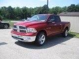 2010 Inferno Red Crystal Pearl Dodge Ram 1500 Big Horn Quad Cab 4x4 #34242686