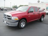 2010 Inferno Red Crystal Pearl Dodge Ram 1500 ST Quad Cab #34242421