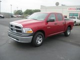 2010 Inferno Red Crystal Pearl Dodge Ram 1500 ST Crew Cab #34242424