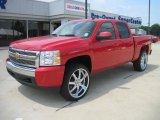 2008 Victory Red Chevrolet Silverado 1500 LTZ Crew Cab 4x4 #34242469