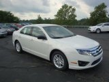 2010 White Suede Ford Fusion S #34242127