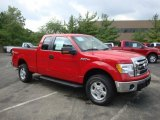 2010 Vermillion Red Ford F150 XLT SuperCab 4x4 #34242129