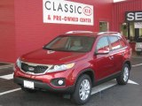 2011 Spicy Red Kia Sorento LX V6 #34242502