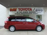 2011 Salsa Red Pearl Toyota Sienna Limited AWD #34241919