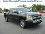 2010 Blue Granite Metallic Chevrolet Silverado 1500 LS Crew Cab #34242874