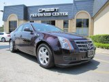 2009 Black Cherry Cadillac CTS Sedan #34242569