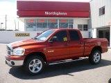 2008 Sunburst Orange Pearl Dodge Ram 1500 Big Horn Edition Quad Cab 4x4 #34241988
