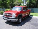 2003 Victory Red Chevrolet Silverado 2500HD LS Crew Cab 4x4 #34319899
