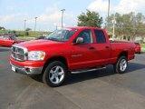 2007 Flame Red Dodge Ram 1500 Big Horn Edition Quad Cab 4x4 #34320082