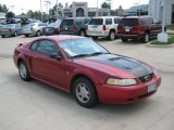 2000 Laser Red Metallic Ford Mustang V6 Coupe #34320115