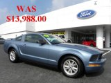 2005 Windveil Blue Metallic Ford Mustang V6 Deluxe Coupe #34319945