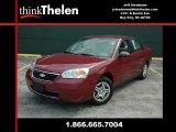 2007 Sport Red Metallic Chevrolet Malibu LS Sedan #34356274