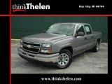 2006 Graystone Metallic Chevrolet Silverado 1500 LS Crew Cab #34356217