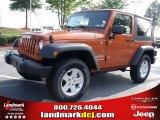 2010 Mango Tango Pearl Jeep Wrangler Sport 4x4 #34392229