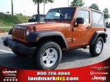 2010 Mango Tango Pearl Jeep Wrangler Sport 4x4 #34392231