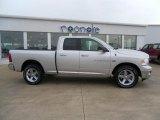 2011 Bright Silver Metallic Dodge Ram 1500 Big Horn Quad Cab 4x4 #34392252