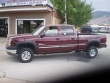2003 Dark Carmine Red Metallic Chevrolet Silverado 2500HD LT Crew Cab 4x4 #34447699