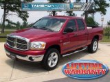 2006 Inferno Red Crystal Pearl Dodge Ram 1500 SLT Quad Cab 4x4 #34447710