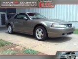 2001 Mineral Grey Metallic Ford Mustang V6 Convertible #34447434