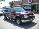 2003 Dark Carmine Red Metallic Chevrolet Silverado 2500HD LS Extended Cab 4x4 #34447124