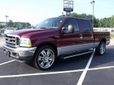 2004 Dark Toreador Red Metallic Ford F250 Super Duty XLT Crew Cab #34447175