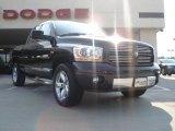 2006 Brilliant Black Crystal Pearl Dodge Ram 1500 Laramie Quad Cab 4x4 #34513903