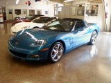 2008 Jetstream Blue Metallic Chevrolet Corvette Coupe #34513252