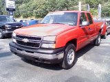 2007 Victory Red Chevrolet Silverado 1500 Classic LS Extended Cab 4x4 #34513258