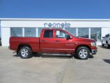 2006 Inferno Red Crystal Pearl Dodge Ram 1500 SLT Quad Cab #34513502
