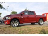 2010 Inferno Red Crystal Pearl Dodge Ram 1500 Sport Crew Cab #34513590