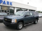 2008 Blue Granite Metallic Chevrolet Silverado 1500 Work Truck Extended Cab 4x4 #34581628