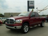 2006 Inferno Red Crystal Pearl Dodge Ram 1500 SLT Quad Cab 4x4 #34581643
