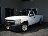 2008 Summit White Chevrolet Silverado 1500 Work Truck Regular Cab #34581381