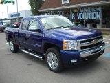 2010 Laser Blue Metallic Chevrolet Silverado 1500 LT Extended Cab 4x4 #34581659