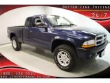2004 Patriot Blue Pearl Dodge Dakota Sport Club Cab 4x4 #34581446