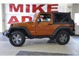 2010 Mango Tango Pearl Jeep Wrangler Sport Mountain Edition 4x4 #34643349