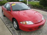 2002 Bright Red Chevrolet Cavalier Coupe #34643806