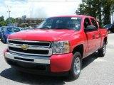 2010 Victory Red Chevrolet Silverado 1500 LT Crew Cab #34582263
