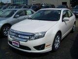 2010 White Platinum Tri-coat Metallic Ford Fusion SE #34643175
