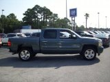 2010 Blue Granite Metallic Chevrolet Silverado 1500 LT Crew Cab #34643512